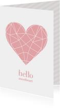 Liefde kaarten - Valentijnskaart geometric heart