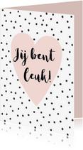 Valentijnskaarten - Valentijnskaart roze hart