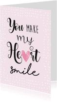 Valentijnskaarten - Valentijnskaart smile