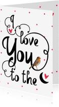 Valentijnskaarten - Valentijnskaart to the moon - LO
