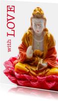 Religie kaarten - Valentijnskaart With Love boeddha - OT