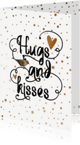 Valentijnskaarten - Valentine koper confetti - LO