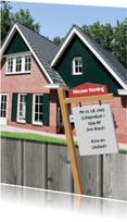 Verhuiskaarten - Verhuisbord nieuwe woning - BK