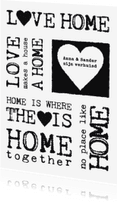 Verhuiskaarten - Verhuiskaart Black&White Text