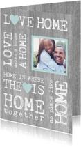 Verhuiskaarten - Verhuiskaart hout tekst en foto