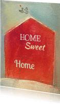 Verhuiskaarten - Verhuiskaart huis in rood