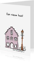 Verhuiskaarten - Verhuiskaart huisje fiets