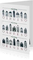 Verhuiskaarten - Verhuiskaart 'Nieuw Begin' met huisjes