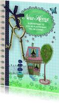 Verhuiskaarten - Verhuiskaart Sleutels Huis ruit