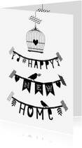 Verhuiskaarten - Verhuizen letterslinger hnh - B