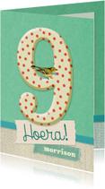 Verjaardagskaarten - Verjaardag 9 vintage collage
