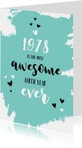 Verjaardagskaarten - Verjaardag belangrijke nieuwsfeiten in het geboortejaar 1978