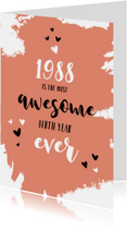 Verjaardagskaarten - Verjaardag belangrijke nieuwsfeiten in het geboortejaar 1988