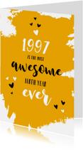 Verjaardagskaarten - Verjaardag belangrijke nieuwsfeiten in het geboortejaar 1997