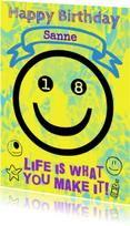 Verjaardagskaarten - Verjaardag Happy 18 IW