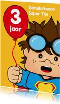 Verjaardagskaarten - verjaardag kinderfeest spiderman J