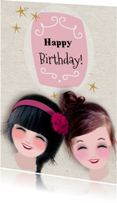 Verjaardagskaarten - Verjaardag lach Birthday -LT