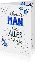 Verjaardagskaarten - Verjaardag man handlettering - HR