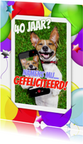 Verjaardagskaarten - Verjaardag selfie ballonnen RB
