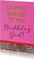Verjaardagskaarten - Verjaardag sparkly wishes