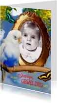 Verjaardagskaarten - verjaardag Spiegelbeeld vogel