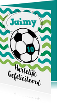 Verjaardagskaarten - Verjaardag vrolijke voetbalkaart