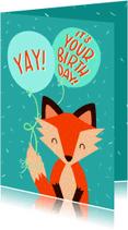 Verjaardagskaarten - Verjaardag Yay it's your Birthday Vos