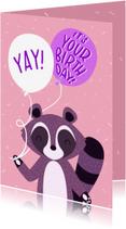 Verjaardagskaarten - Verjaardag Yay it's your birthday wasbeer