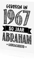Verjaardagskaarten - Verjaardagskaart Abraham 1967