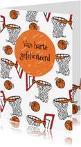 Verjaardagskaarten - Verjaardagskaart basketbal