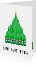 Verjaardagskaarten - Verjaardagskaart Biertaart