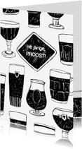 Verjaardagskaarten - Verjaardagskaart biertjes