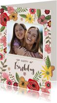 Verjaardagskaarten - Verjaardagskaart Bloemen & Foto