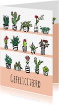 Verjaardagskaarten - Verjaardagskaart bloemen en plantjes