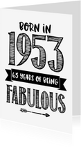 Verjaardagskaarten - Verjaardagskaart Born in 1953