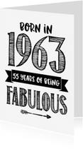 Verjaardagskaarten - Verjaardagskaart Born in 1963