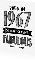 Verjaardagskaarten - Verjaardagskaart Born in 1967