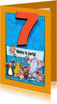 Verjaardagskaarten - Verjaardagskaart Cijfer 7 - HE