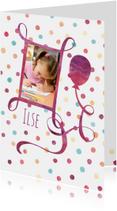 Verjaardagskaarten - Verjaardagskaart confetti foto