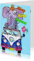 Verjaardagskaarten - Verjaardagskaart dieren toren