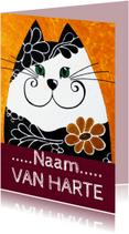 Verjaardagskaarten - Verjaardagskaart elegante kat