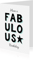 Verjaardagskaarten - Verjaardagskaart fabulous ster