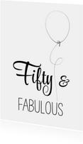 Verjaardagskaarten - Verjaardagskaart Fifty zww