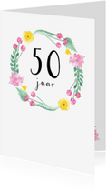 Verjaardagskaarten - Verjaardagskaart Flower, leeftijd aanpasbaar