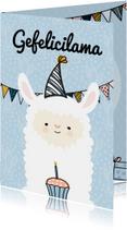 Verjaardagskaarten - Verjaardagskaart gefelicilama