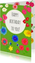 Verjaardagskaarten - Verjaardagskaart green PA