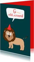 Verjaardagskaarten - Verjaardagskaart Grrrrrrefeliciteerd!