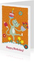 Verjaardagskaarten - Verjaardagskaart - Happy Cat