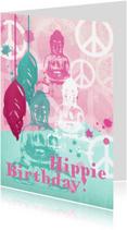 Verjaardagskaarten - Verjaardagskaart Hippie Birthday