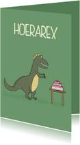 Verjaardagskaarten - Verjaardagskaart Hoerarex Taart!
